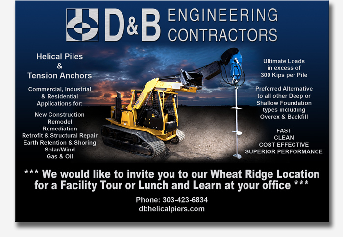Contact Chuck Zwiacher for more information regarding D&B Engineering Contractors Helical Pile/Helical Pier Installation
