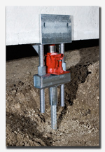 Heli-Pile® Underpinning Bracket for Foundation Repair